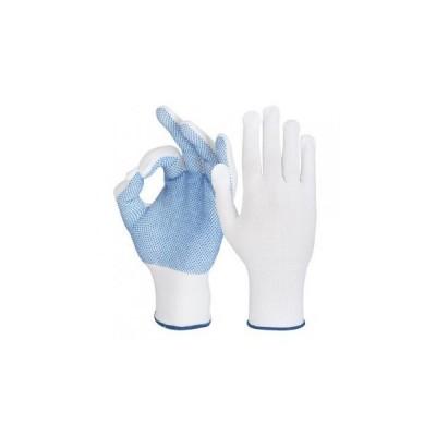 Manusa de protectie din tricot sintetic cu aplicatii punctiforme PVC GRANET