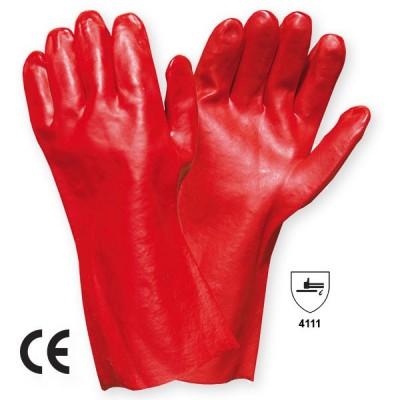 Manusa de protectie  PVC categoria II VINYL RED 35cm
