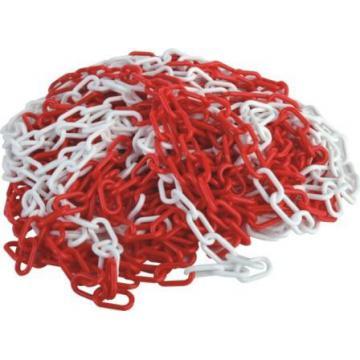 Lant de delimitare PVC alb/rosu, pret/m