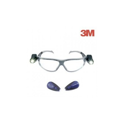 Ochelari de protectie cu lentile Transparente + lanterne laterale, gama LED LIGHT VISION