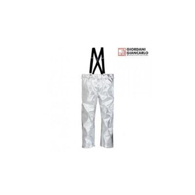 Pantaloni aluminizati cu bretele