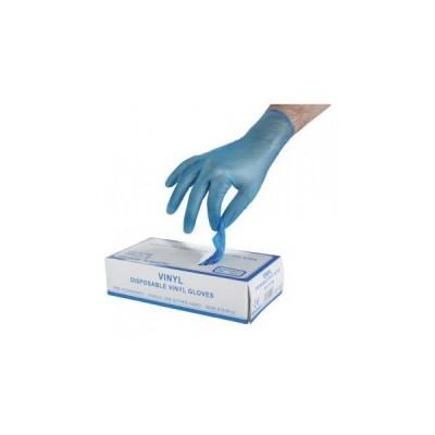 Manusa de examinare nesterila din vinyl, VINYL BLUE - set 100 buc