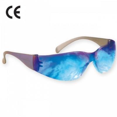 Ochelari de protectie VIRTUA cu lentila albastru oglinda