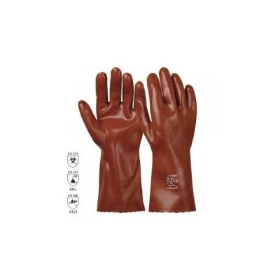 Manusa de protectie antichim.PVC categorita III VINYL BROWN 35cm