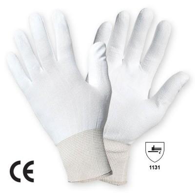 Manusa tricotata din nailon cu aplicatii din poliuretan pe degete si in palma SENSOR