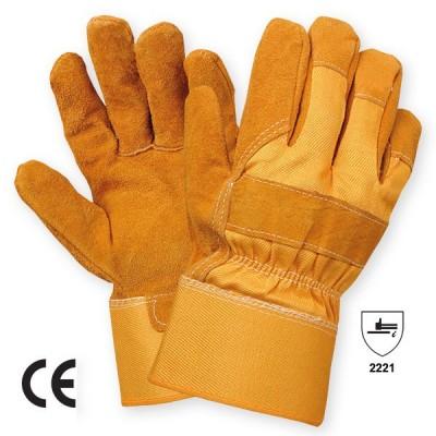 Manusa de protectie din piele spalt bovina REIDER - yellow