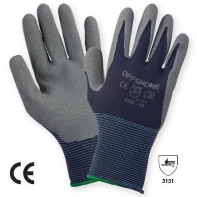 Manusa tricotata nylon, cu aplicatii din latex pe palma LATEXgriP