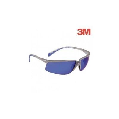Ochelari de protectie SOLUS cu lentila oglinda albastra