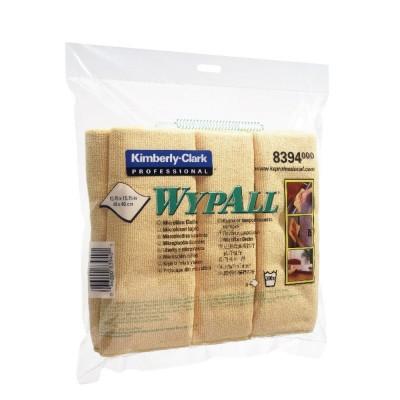 Lavete din microfibra WYPALL* - pliate / 6 buc - 40cm x 40cm -galben