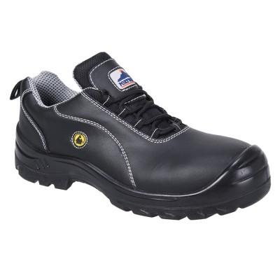 Pantofi ESD din piele S1 bombeu compozit FC02