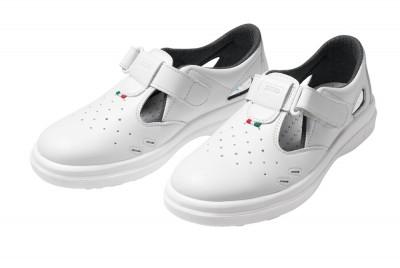 Sandale de protectie albe SANITARY LYBRA S1