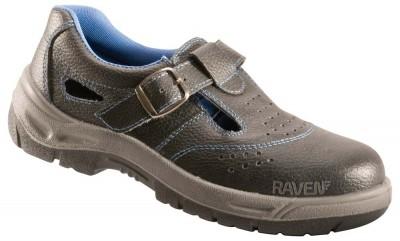 Sandale RAVEN S1 din piele cu bombeu metalic