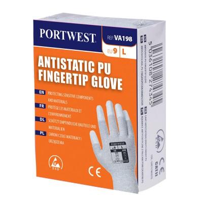 Manusa antistatica vending aplicatii PU pe varful degetelor VA198